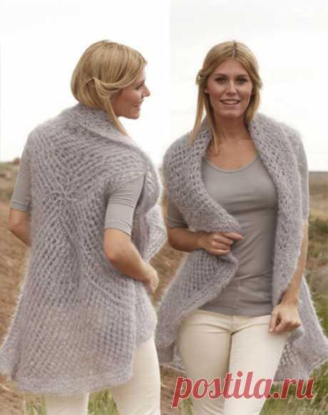 Жилет по кругу для женщин спицами – 5 моделей со схемами и описанием — Пошивчик одежды