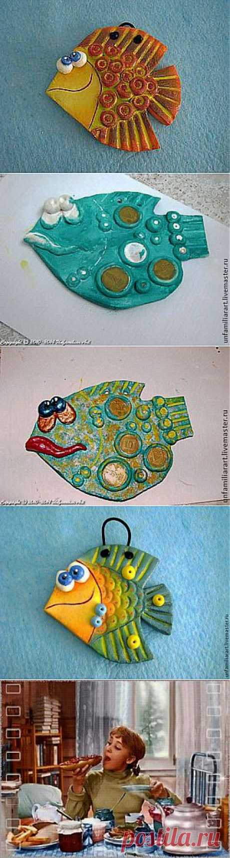 Денежная рыбка из соленого теста. Автор Анна Фруг | Очумелые ручки