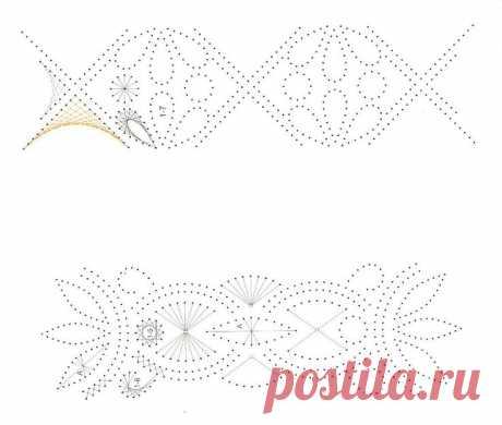 Схемы для изонити: рамки и бордюры для открыток