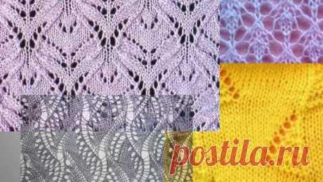 Чудесные АЖУРНЫЕ узоры спицами со схемами. Вязание Knitting Knitted Diy Вязание спицами. Чудесные Ажурные узоры спицами со схемами. Вязание Knitting Knitted Diy. Подойдут для вязания кардигана, кофты,пуловера, платья, джемпера, с...