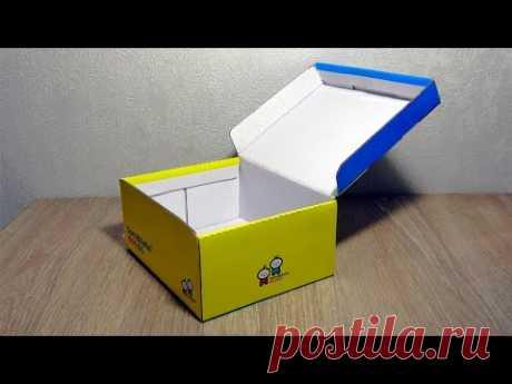 Из обычной коробки для обуви сделали шикарную шкатулку