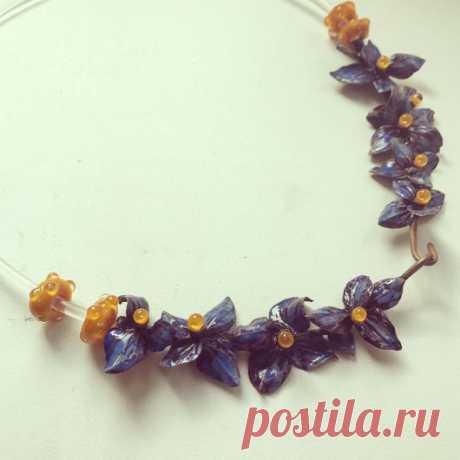 """Купить Колье """"Весна"""" - серебряный, украшения ручной работы, украшение на шею, уникальное украшение, подарок"""