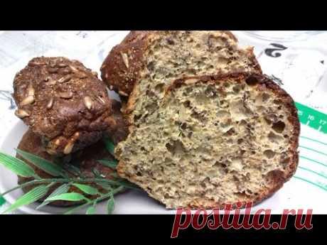 Кето хлеб из льняной муки. Подготовка теста для булочек 5 минут
