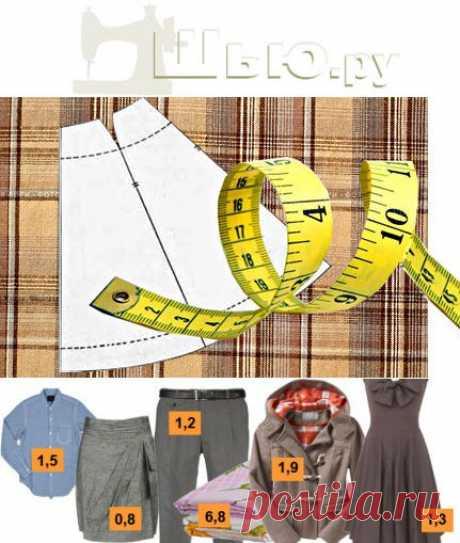 Расход ткани | Сколько нужно ткани на юбку, платье и др.