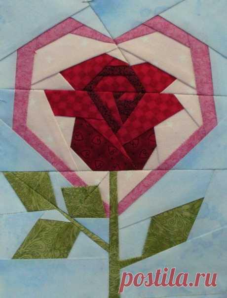 [PP+block+done.jpg] | Quilts | Лоскутное Шитьё, Бумажное Одеяло Из Кусочков и Роза
