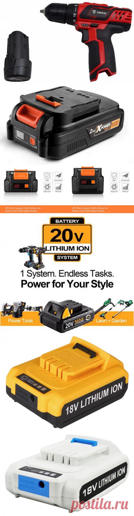 Подборка аккумуляторных литиевых батарей DEKO с Алиэкспресс | Super-Blog