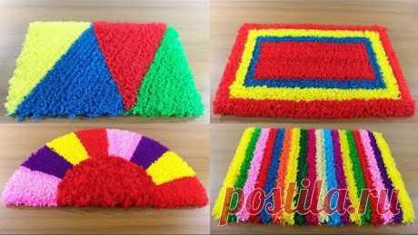 ৫ টি পাপোশ আইডিয়া 🚗 5 Creative Doormat Ideas From Wool 🌸 Make Doormat at Home !