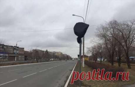 Отменяет ли мусорный пакет действие дорожного знака? (6 фото) . Тут забавно !!!