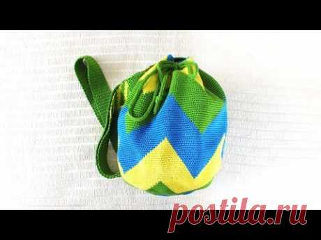 The Colombian bag - wetted. Bag feed bag, bag bucket. My favourite summer bag