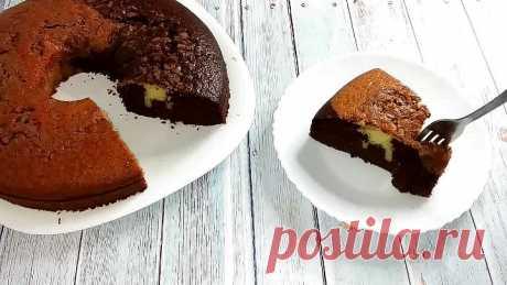 Быстрый вкусный двухцветный пирог к чаю