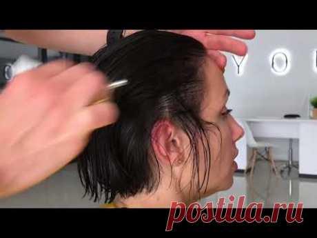 Como cortar el haba sobre los cabellos delgados