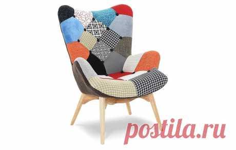 Кресло Contour, пэчворк | Купить по выгодной цене в интернет-магазине iModern.ru