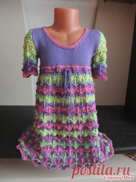 Платье для крестницы из Ализе Дивы - Вязание для детей - Страна Мам