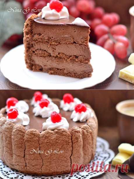 With love, taste and beauty... : Шоколадный тирамису с вишневым ликером. Авторский рецепт.