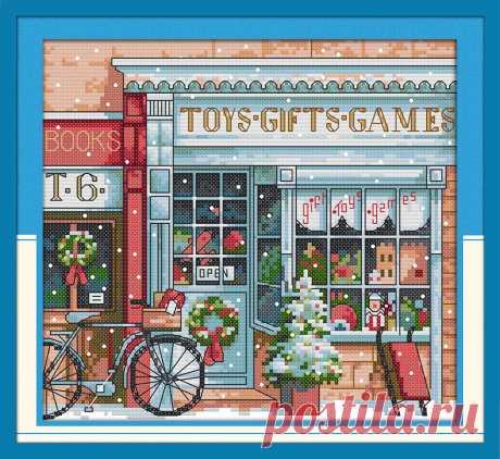 Вечный подарок для любви, магазин игрушек, китайские наборы для вышивки крестиком, экологичный хлопок, штампованный 14CT, DIY рождественские подарки для украшения дома|Упаковка| | АлиЭкспресс
