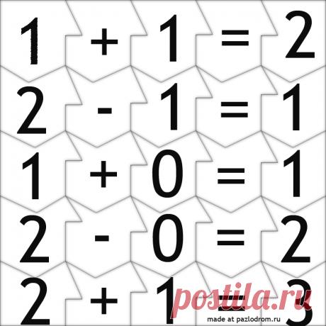 Разрезная картинка Математический пазл