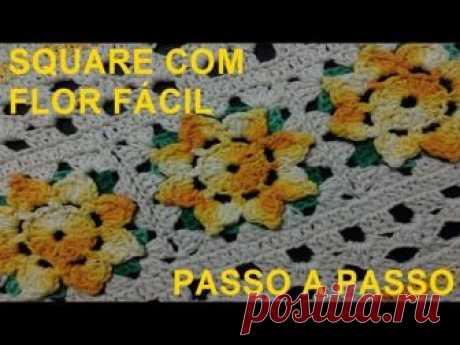 Square com flor fácil #LuizadeLugh