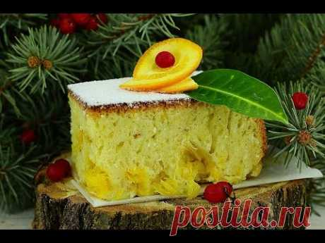 The recipe of a charlotte with oranges, apples and tangerines: options of combinations of a stuffing