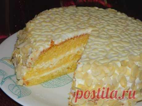 """Шикарный торт """"Ожидание"""" с нежным творожно-лимонным кремом!"""