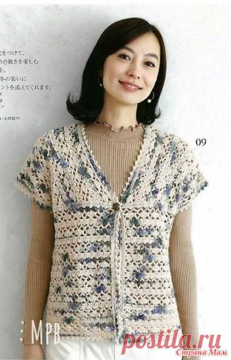 Summer openwork jacket. Hook. - KNITTED FASHION + FOR NOT MODEL LADIES - the Country of Mothers