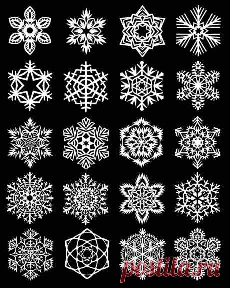 Как вырезать красивые снежинки из бумаги. Схемы снежинок из бумаги.
