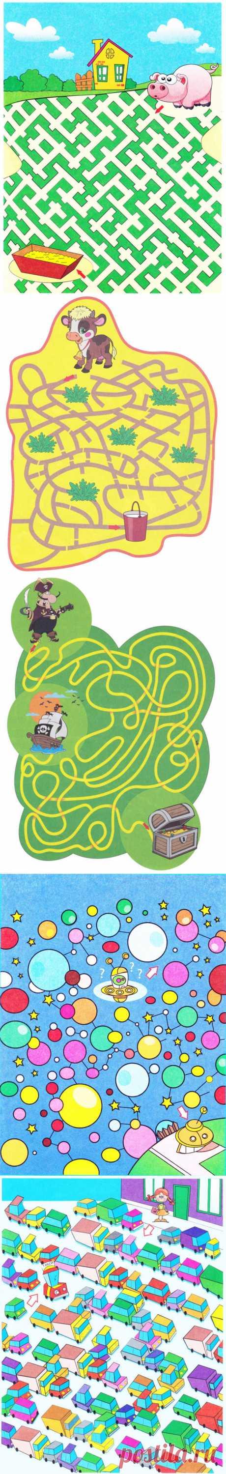 Сказочные лабиринты для развития пространственного мышления | Играем и развиваемся