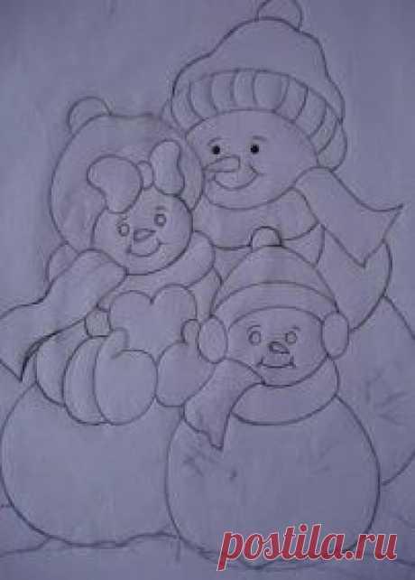 Molde del cuadro de la familia nieve