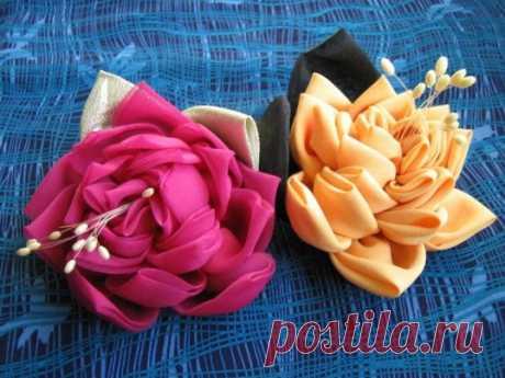 Разные способы изготовления цветов из ткани — Делаем руками