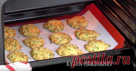 Капустные оладьи в духовке: готовлю обычно двойную порцию, иначе не хватает   Кухня наизнанку   Яндекс Дзен