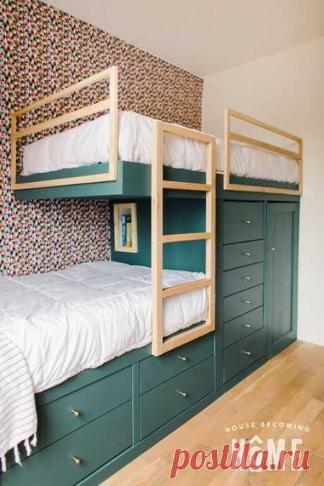 Двухярусная кровать. Необычное решение.
