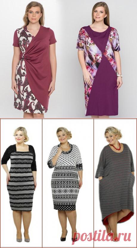 Фасон платьев для полных женщин с животом