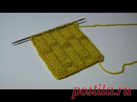 Красивая плетеная резинка спицами