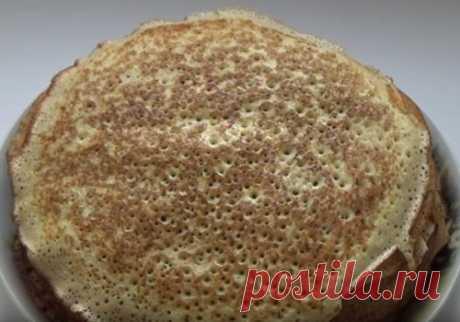 Блины на кефире с дырочками — рецепты тонких, вкусных, ажурных блинчиков