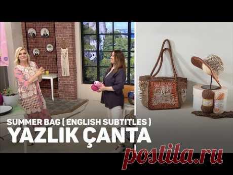 Alize Cotton Gold Plus ve Alize Cotton Gold Batik ile Yazlık Çanta -  Summer Bag