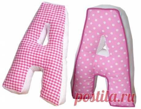 Буквы-подушки   Как сделать выкройку и сшить мягкую подушку-букву