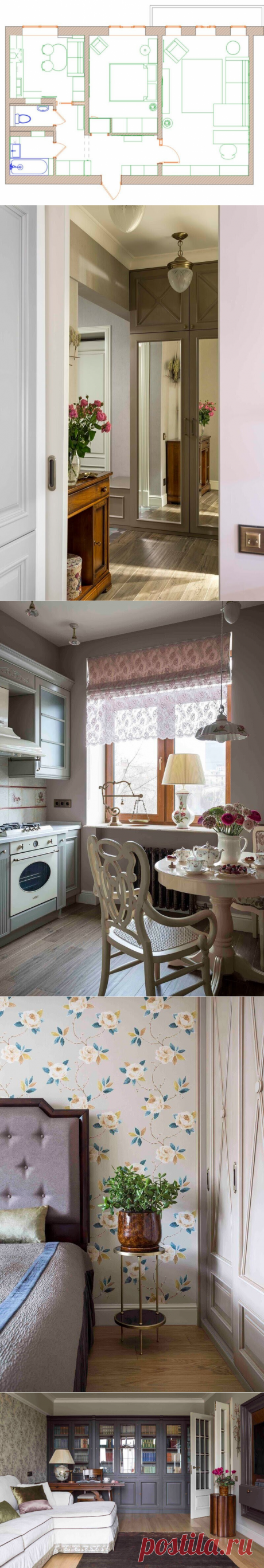 Квартира как в журнале. Ремонт, который понравится всем: двушка 60 м² в стиле неоклассики. Нет слов - один восторг.   El Design   Яндекс Дзен
