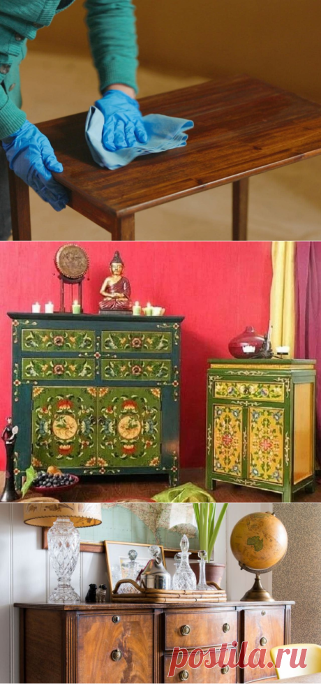 Технологии реставрации и ремонт деревянной мебели своими руками
