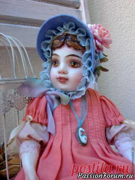 """Мк по созданию шляпки для куклы """"Викторианские розы""""   Разнообразные игрушки ручной работы"""