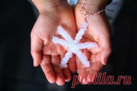 Выращиваем снежинку из кристаллов соли