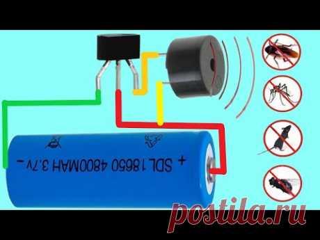 Как Сделать Отпугиватель Комаров И Насекомых - Схема Отпугивания Комаров На Одном Транзисторе
