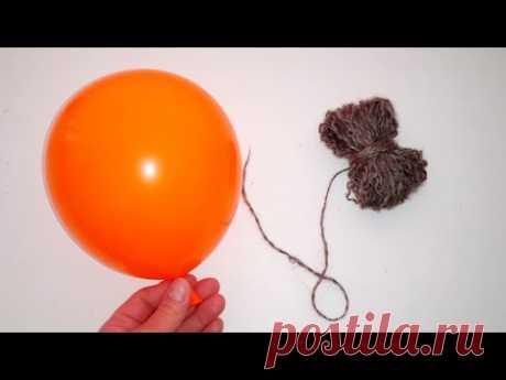 Наконец-то я это сделала!!! Поделка из шарика и ниток, минимум клея ПВА, декоративная качеля