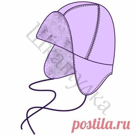 Выкройка детской шапки-ушанки | Шкатулка