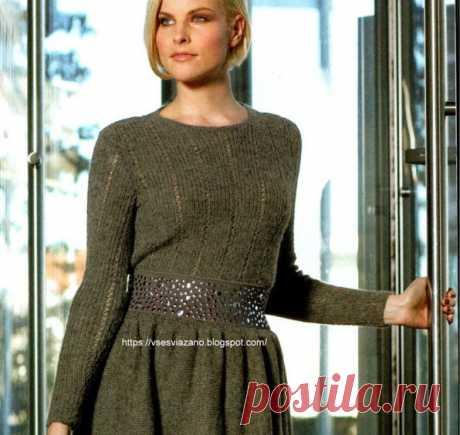 ВСЕ СВЯЗАНО. ROSOMAHA.: Парижский шик-своими руками! Комплект: пуловер+юбка=платье.