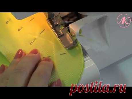 Обработка бокового кармана мастер-класс - YouTube