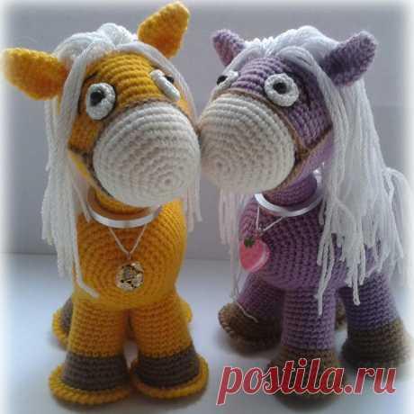 Лошадка амигуруми. Схемы и описания для вязания игрушек крючком!
