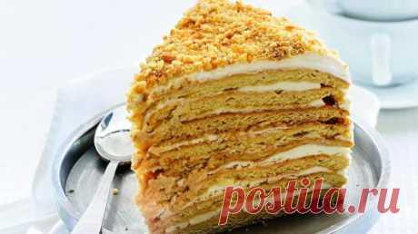 Медовый торт сосметанным кремом, пошаговый рецепт с фото Медовый торт сосметанным кремом. Пошаговый рецепт с фото, удобный поиск рецептов на Gastronom.ru