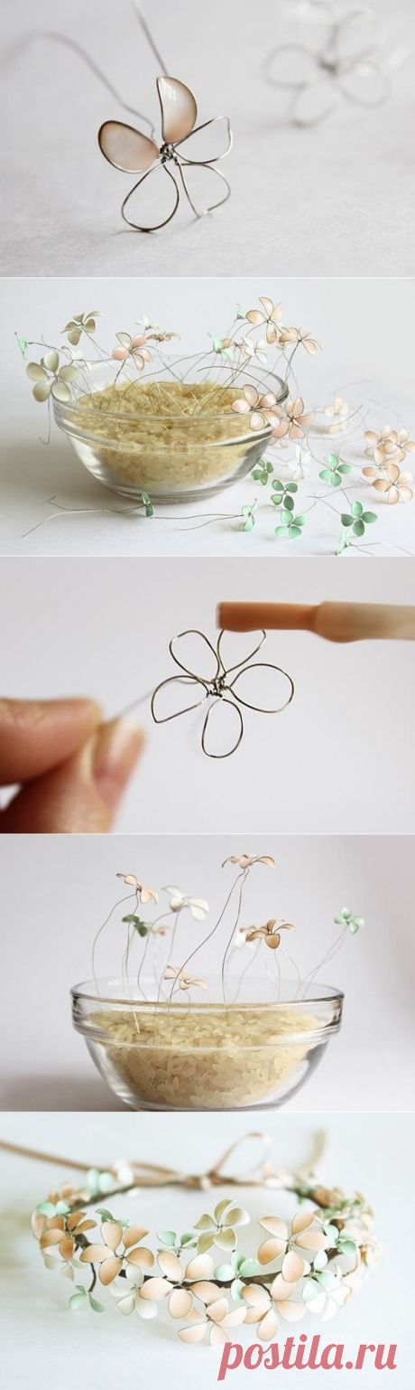 Венок из весенних цветов или вторая жизнь лаков для ногтей. — Сделай сам, идеи для творчества - DIY Ideas