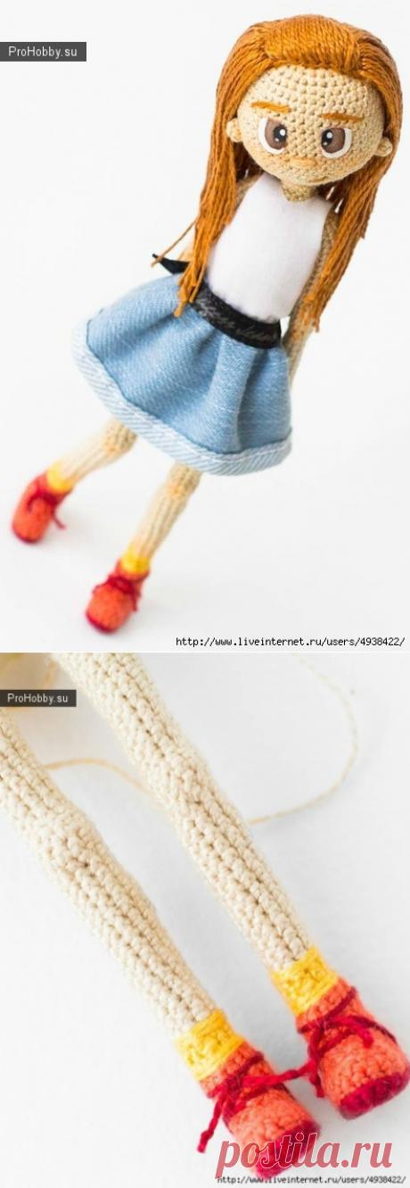 Новогодняя Девочка. Каркасная Кукла / Вязание игрушек / ProHobby.su | Вязание игрушек спицами и крючком для начинающих, мастер классы, схемы вязания