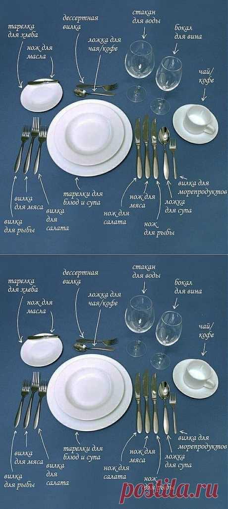 Сервировка стола - необходимо знать.