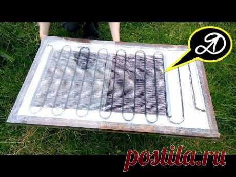 Как нагреть воду на даче. Солнечный коллектор своими руками - YouTube